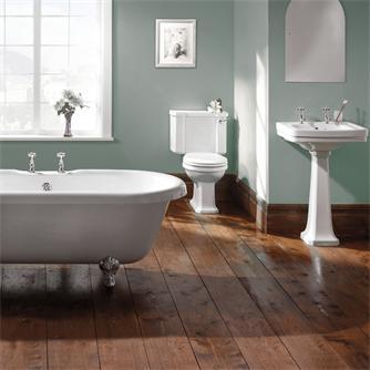 Een grote badkamer inrichten